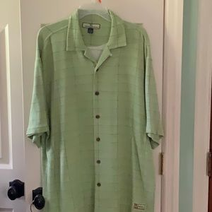 Tommy Bahama silk cotton blend shirt - Large